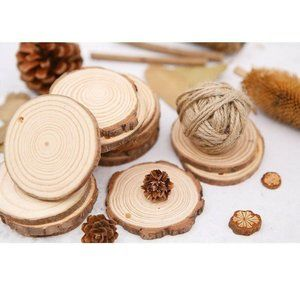 MaiTaiTai Natural Wood Slices 4 Pcs 5-6 Inches